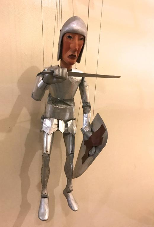 1960s Artists Crafted Medieval Knight Puppet by Stan Felman 7