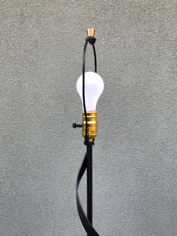 Modernist Spiral Floor Lamp, 1950s 7