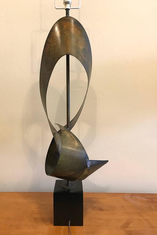 Brutalist Ribbon Sculpture Lamp by Harry Balmer for Laurel 6
