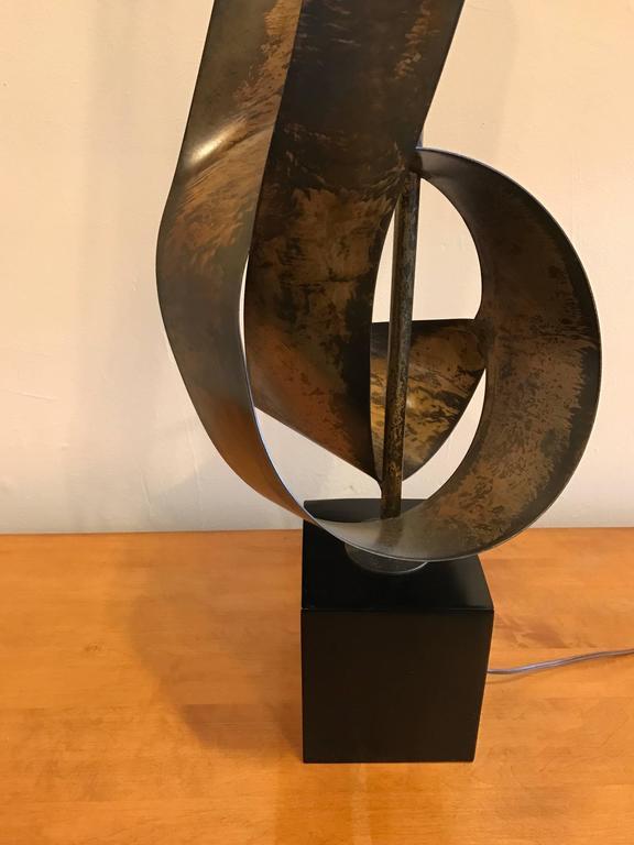 Brutalist Ribbon Sculpture Lamp by Harry Balmer for Laurel 9