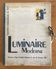 1937 Luminaire Moderne French Lighting Catalogue / Art Deco