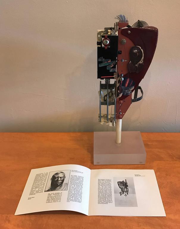 "Mixed Media Abstract Sculpture Bay Area Artist Scott Davis lll ""White Head"" 1984 9"