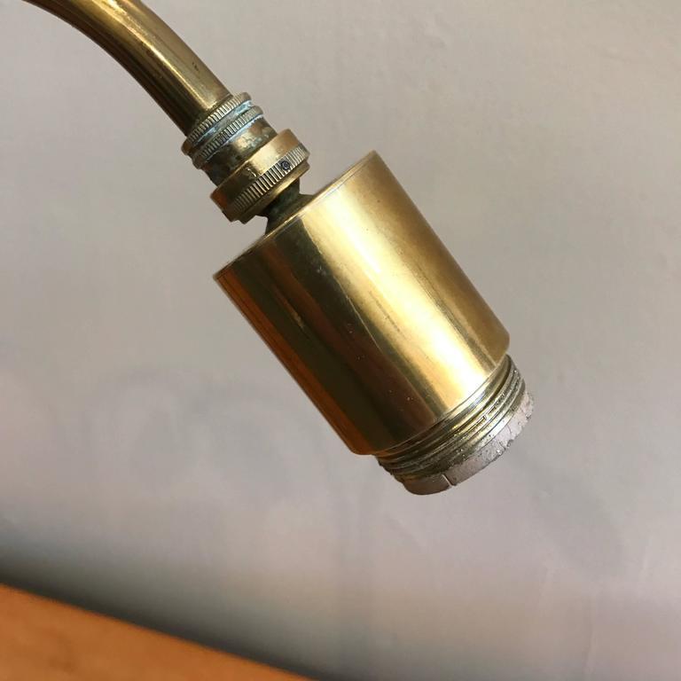 Handmade Brass Table Lamp by Norman Grag California Design 7