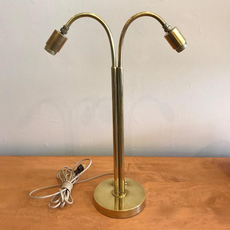Handmade Brass Table Lamp by Norman Grag California Design 5