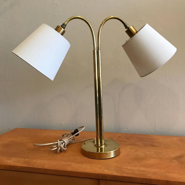Handmade Brass Table Lamp by Norman Grag California Design 2