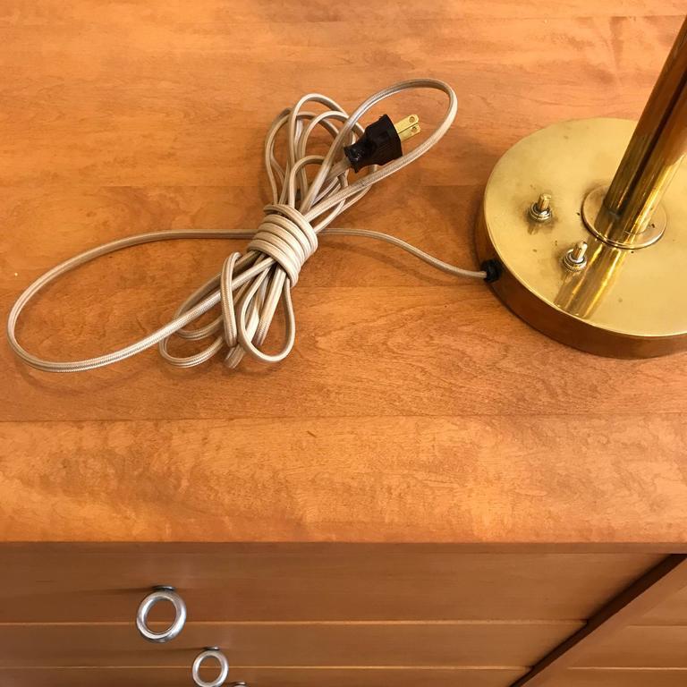 Handmade Brass Table Lamp by Norman Grag California Design 8