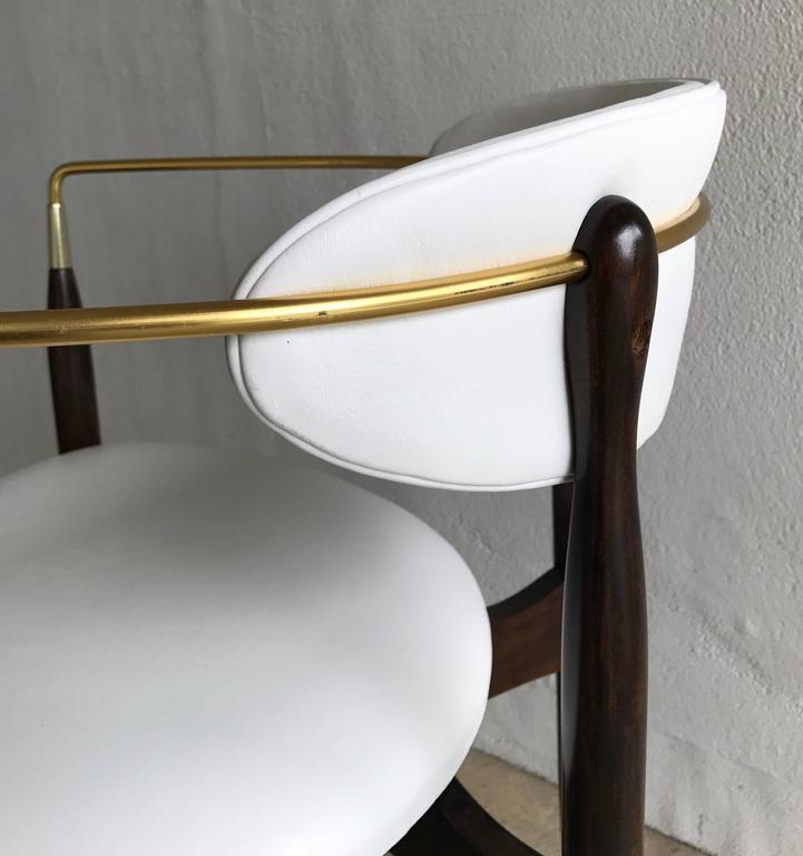 Dan Johnson Armchair for Selig in White Leather 8