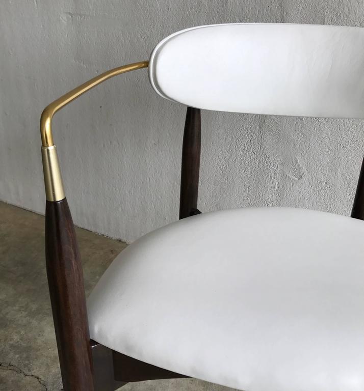 Dan Johnson Armchair for Selig in White Leather 9