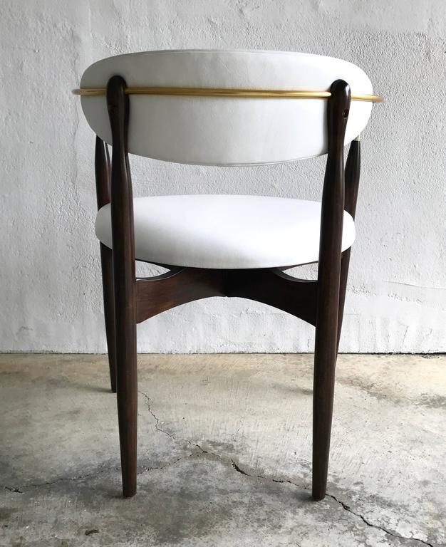 Dan Johnson Armchair for Selig in White Leather 7