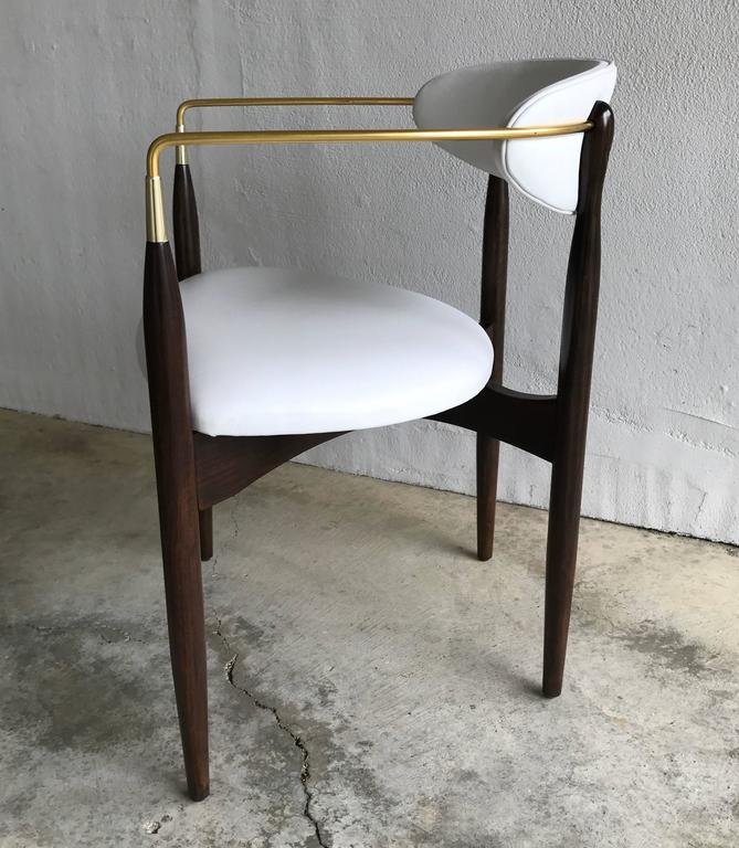 Dan Johnson Armchair for Selig in White Leather 5
