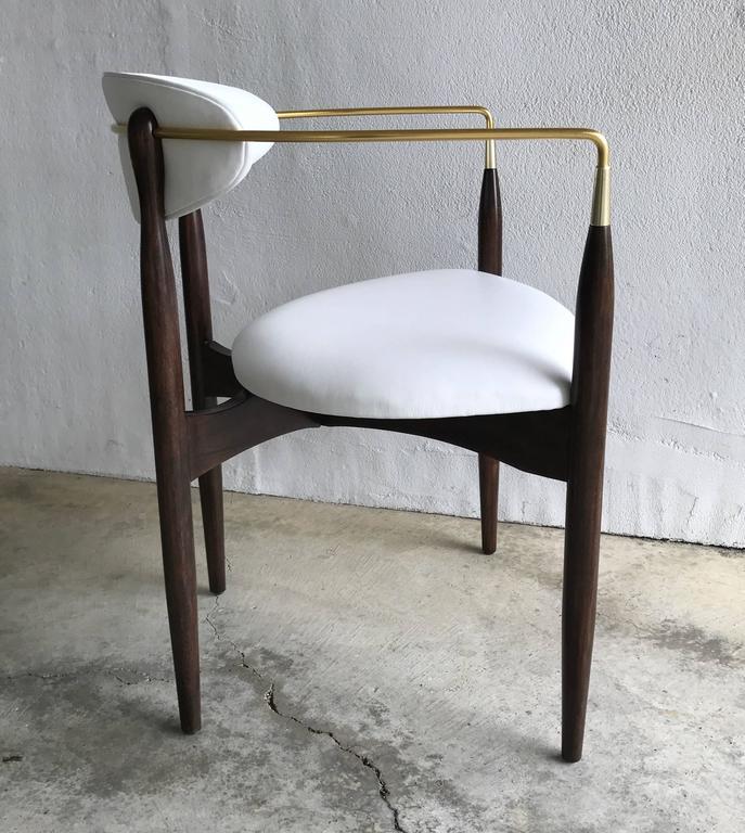 Dan Johnson Armchair for Selig in White Leather 6