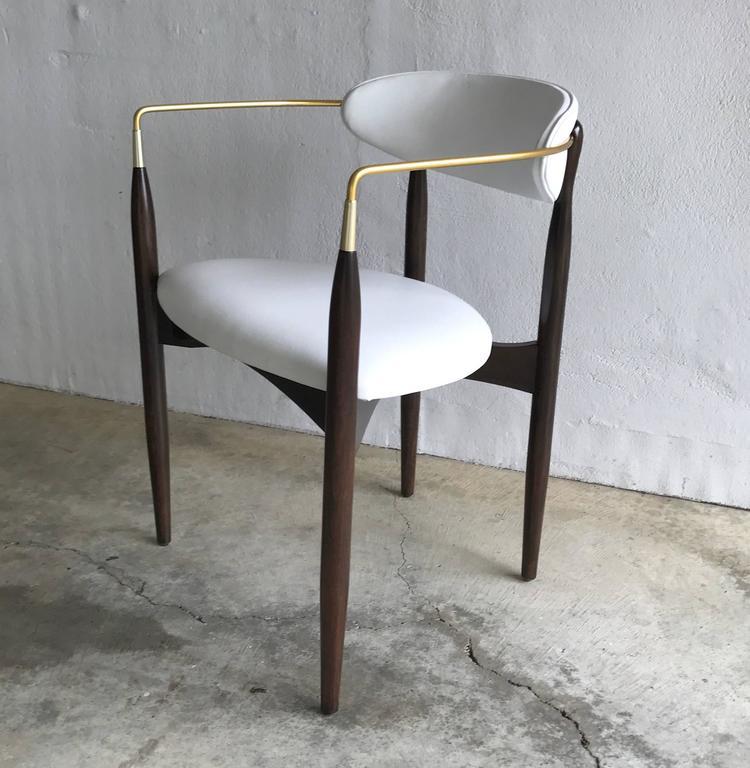 Dan Johnson Armchair for Selig in White Leather 10