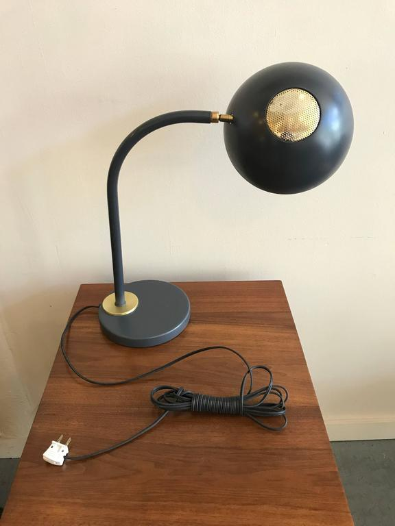 Early Production Adjustable Lightolier Table Lamp with Brass Accents 5