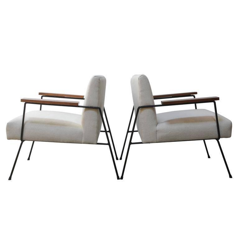 California Iron Framed Lounge Chairs 1
