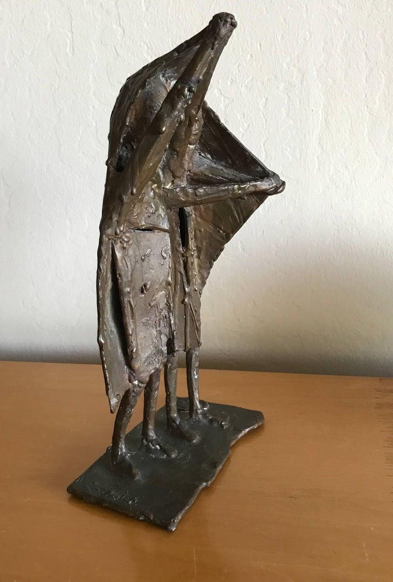 Bay Area Bronze Surrealist / Brutalist Figurative Sculpture 6
