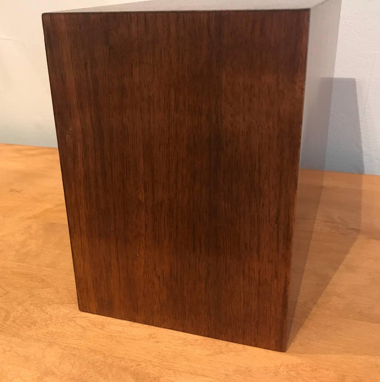 Studio Made Brass and Mahogany Modernist Jewelry Box For Sale 1