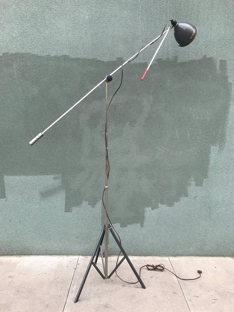 Smith-Victor Mini Boom Floor Lamp MoMA, 1940s 10