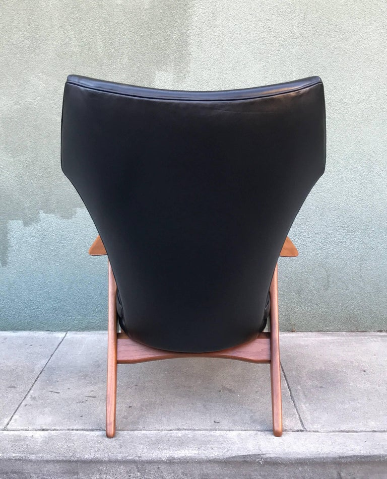 Kurt Ostervig Wingback Leather Lounge Chair 3