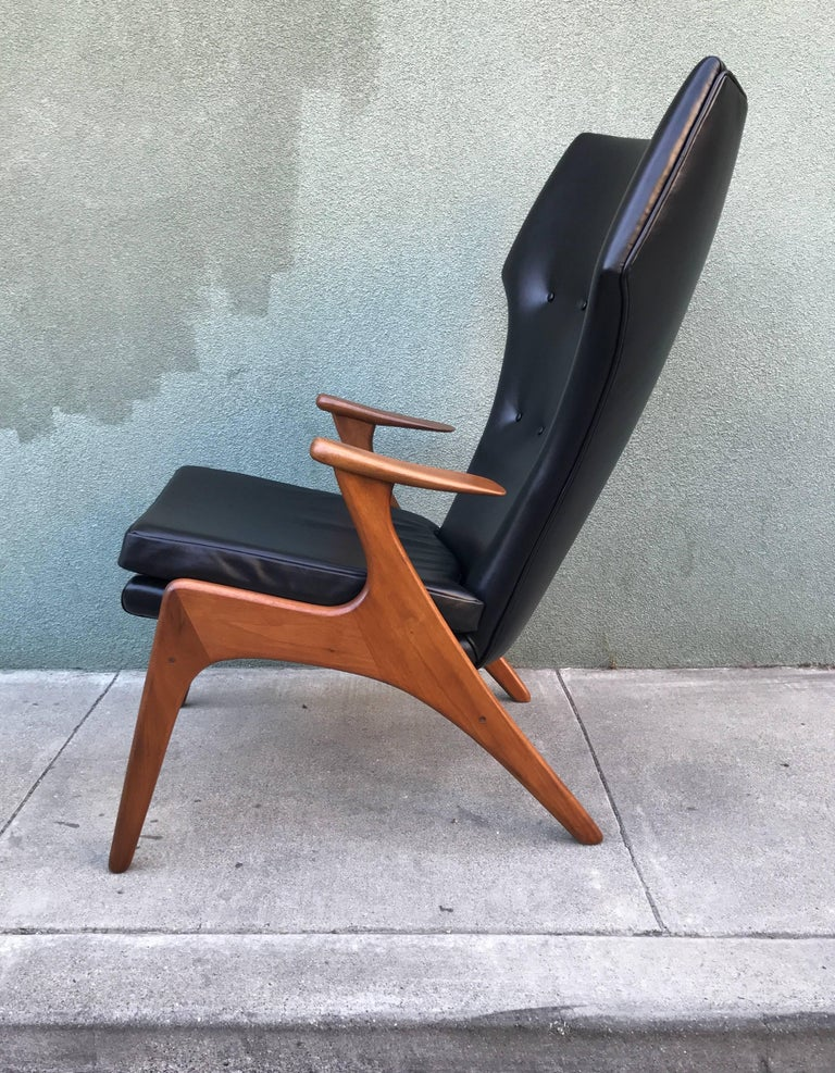 Kurt Ostervig Wingback Leather Lounge Chair 2