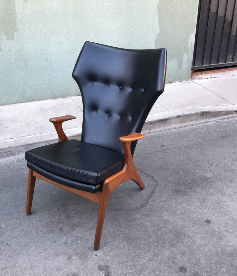 Kurt Ostervig Wingback Leather Lounge Chair 10