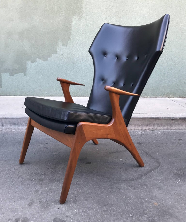 Kurt Ostervig Wingback Leather Lounge Chair 9