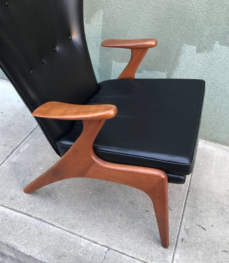 Kurt Ostervig Wingback Leather Lounge Chair 8