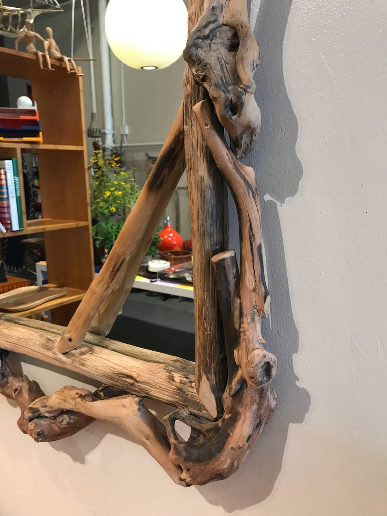Rustic Handmade Grapevine Wall Mirror 5