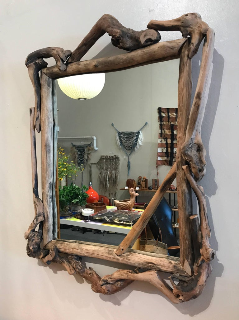 Rustic Handmade Grapevine Wall Mirror 4