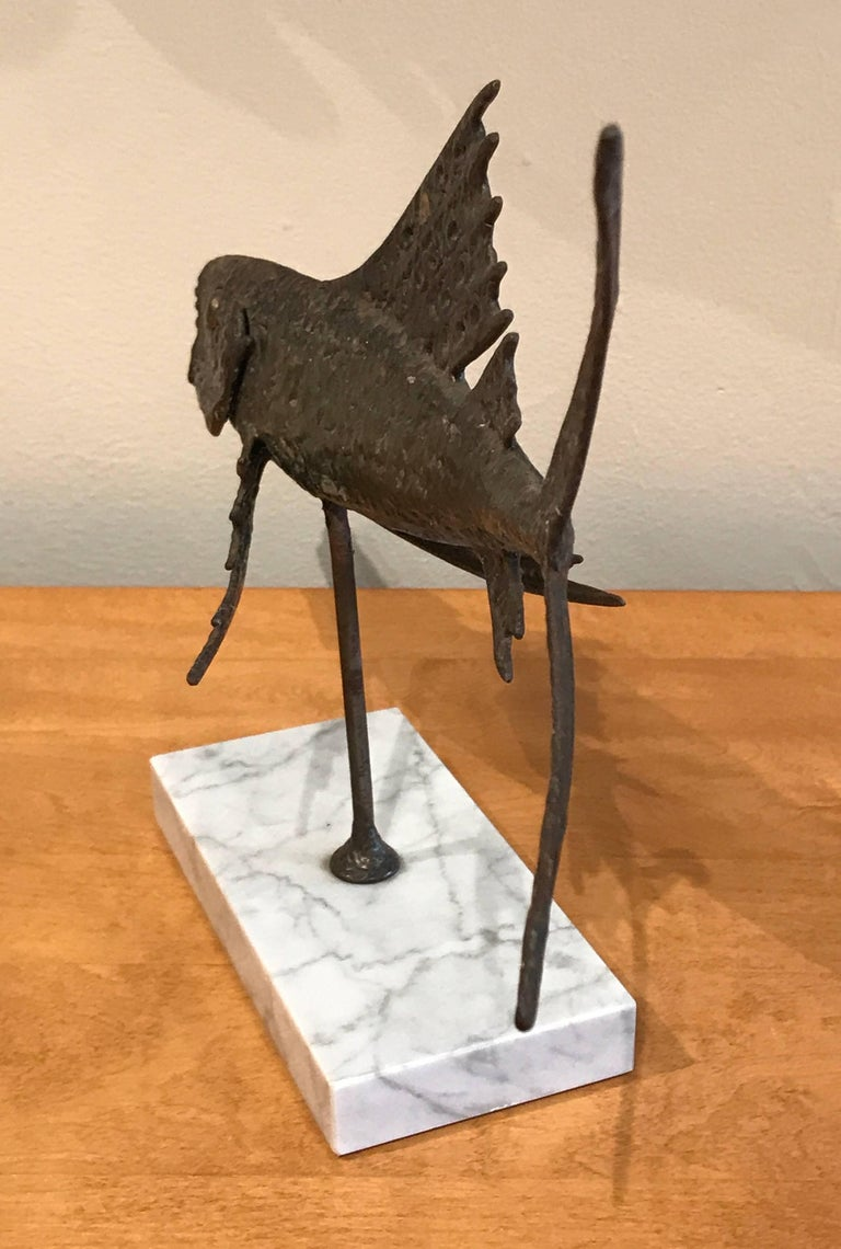 Abstract Bronze Sculpture of a Fish 8
