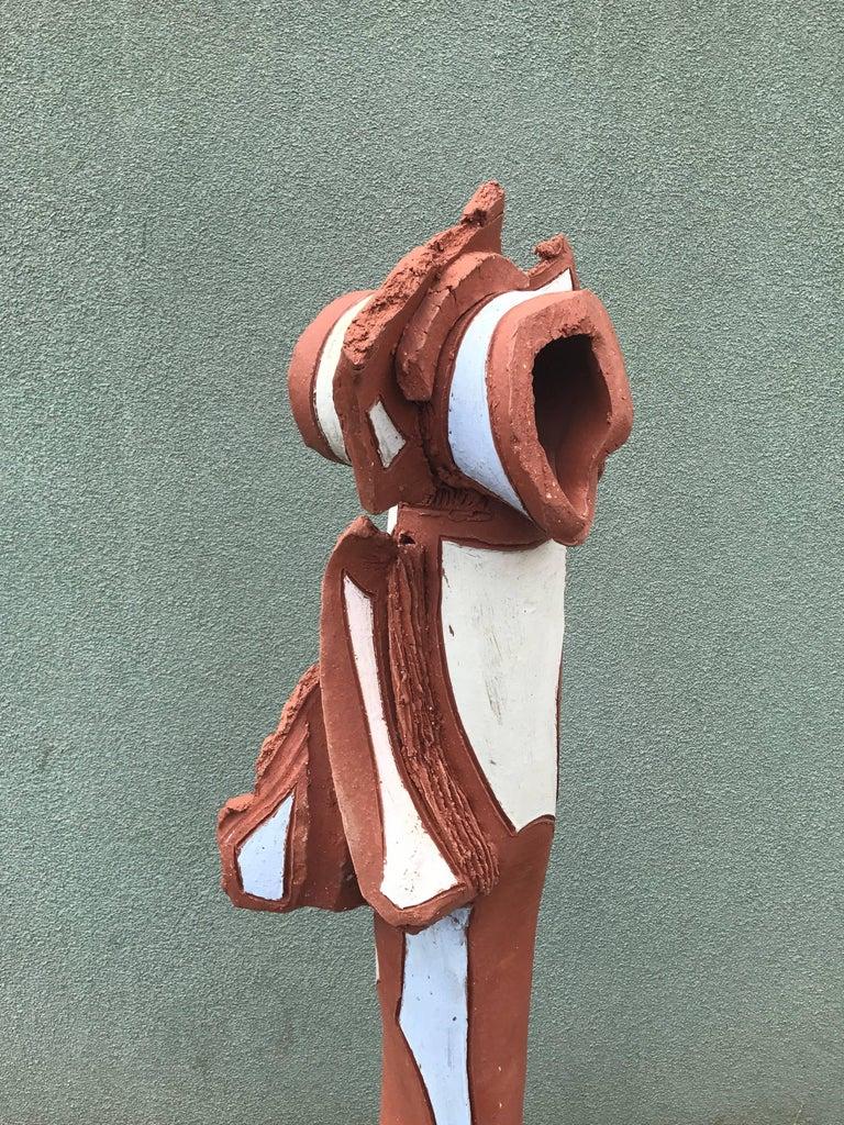 Bay Area Large Glazed Ceramic Abstract or Brutalist TOTEM Sculpture #2 3