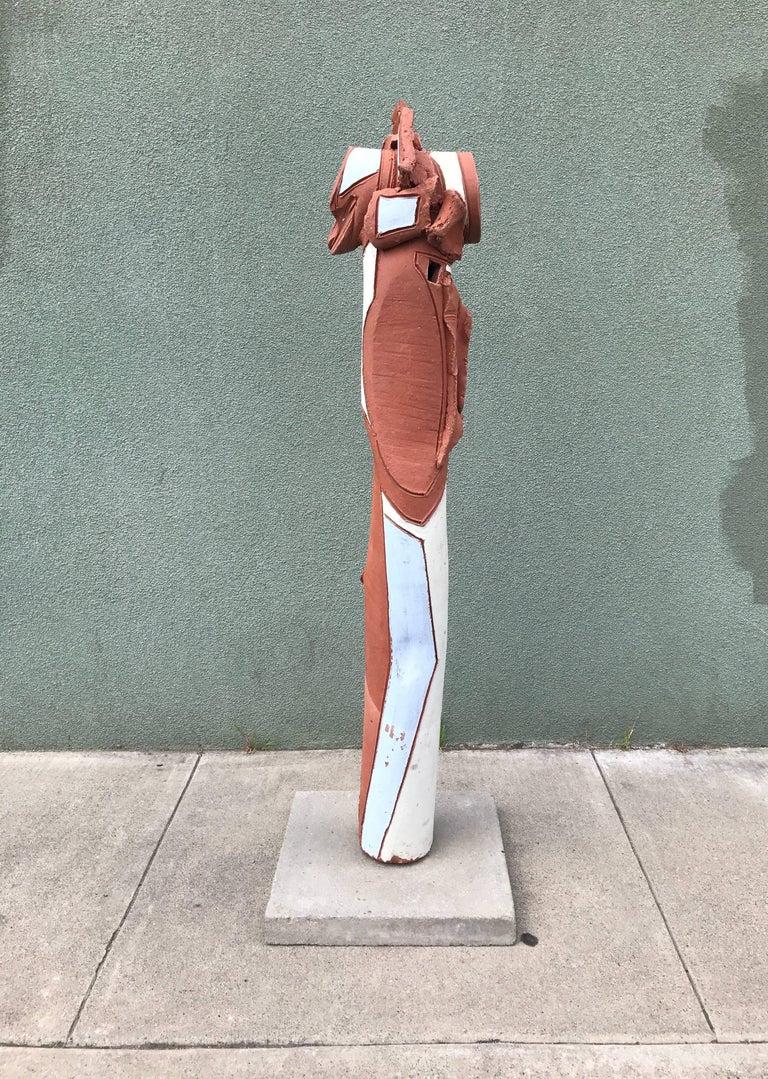 Bay Area Large Glazed Ceramic Abstract or Brutalist TOTEM Sculpture #2 9