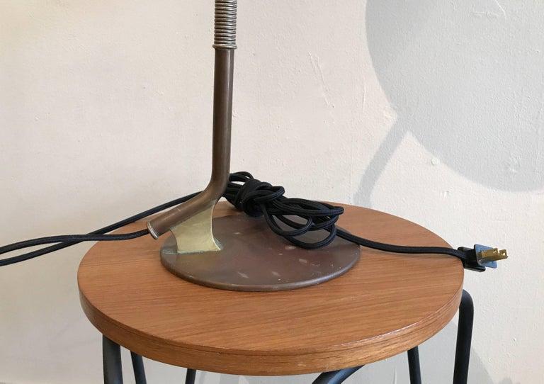 1950s Modernist Swedish Table Lamp in Solid Brass Scandinavian Design 7