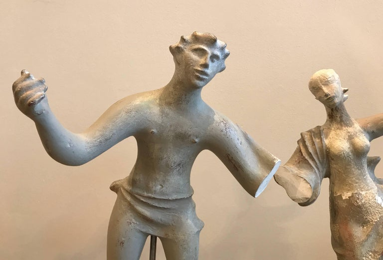 1930s Sculpture / Maquette Dancers, 1939 San Francisco Worlds Fair 3