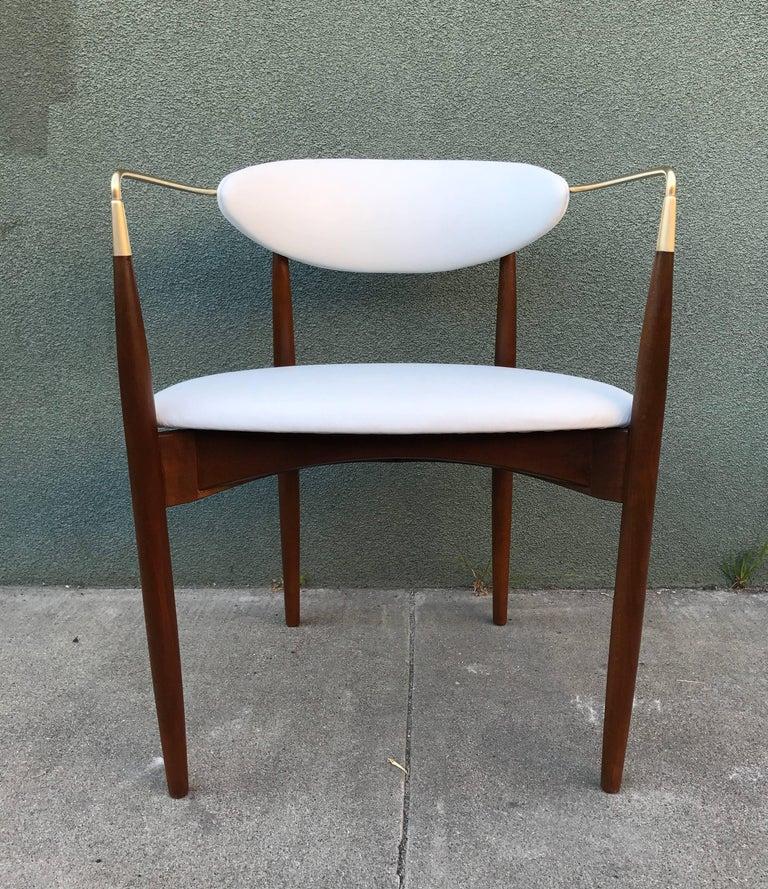 Dan Johnson Armchair in White Leather for Selig 8