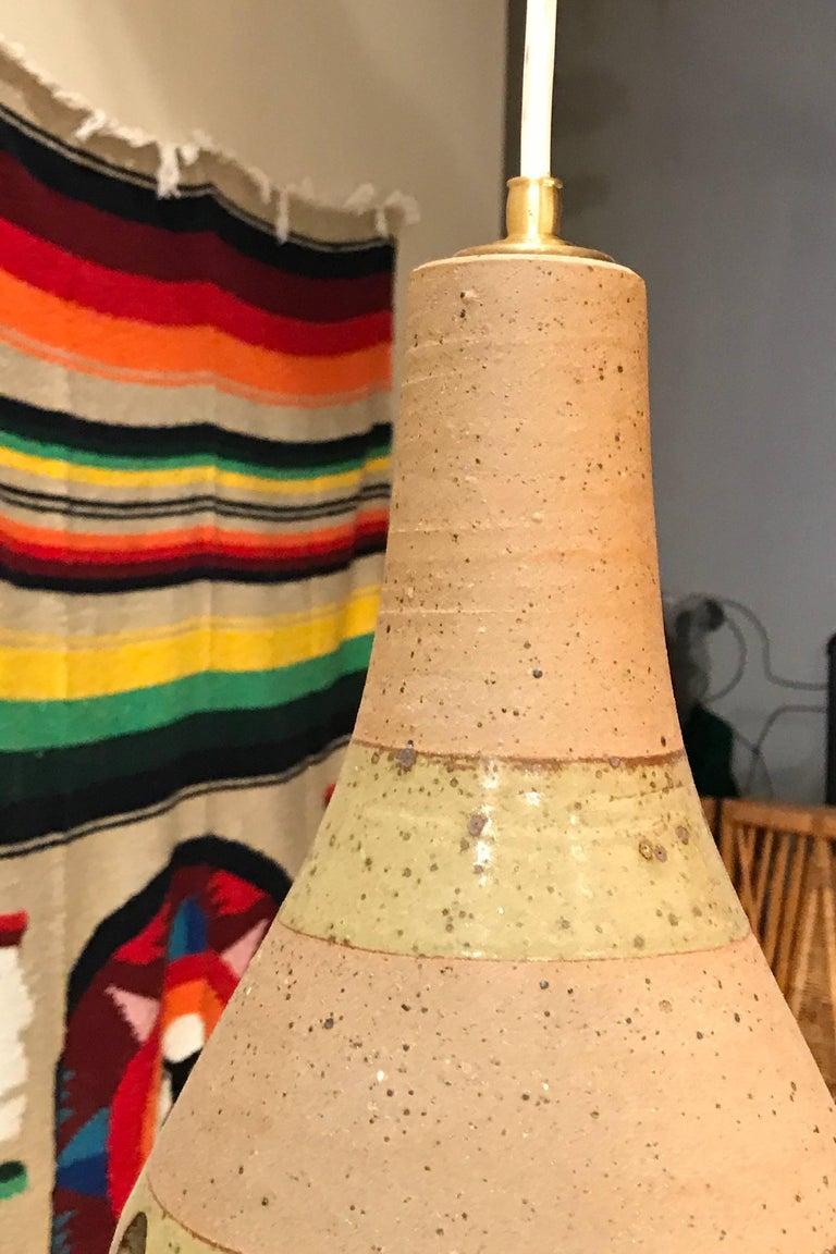 1960s Studio Ceramic Japanese Pendant Lamps 5