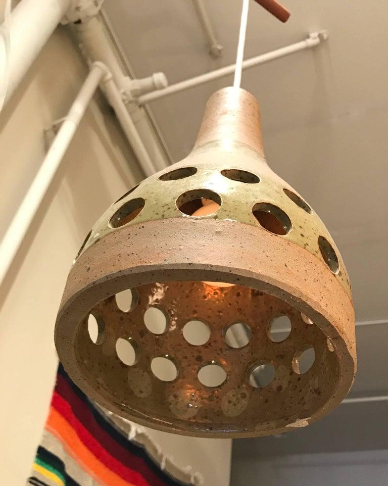 1960s Studio Ceramic Japanese Pendant Lamps 8