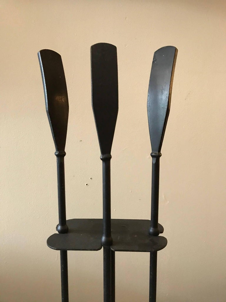 Luther Conover Modernist California Iron Fire Tools, circa 1950s 2