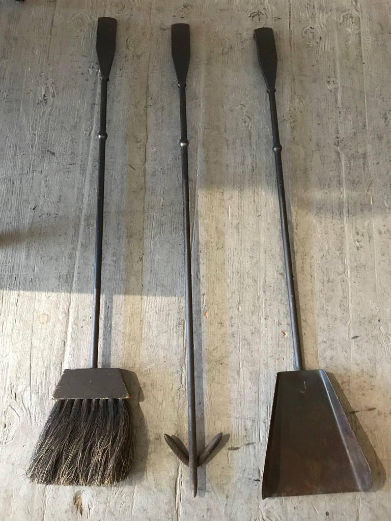 Luther Conover Modernist California Iron Fire Tools, circa 1950s 3