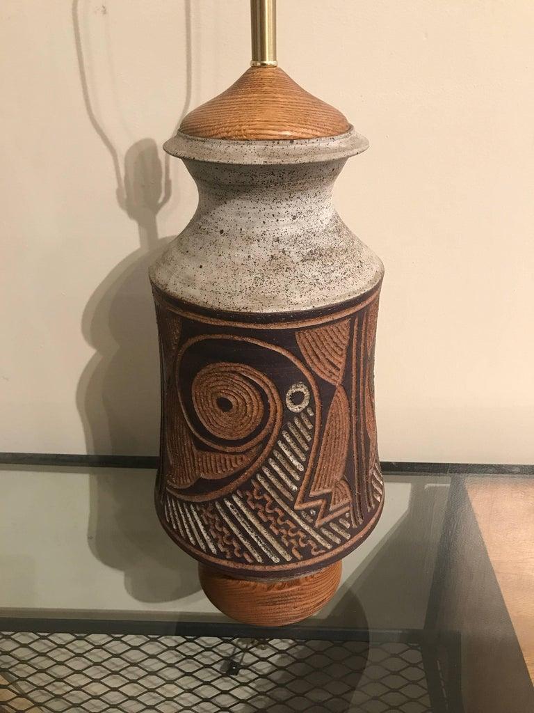 1970s California Ceramic Studio Craft Table Lamp 4