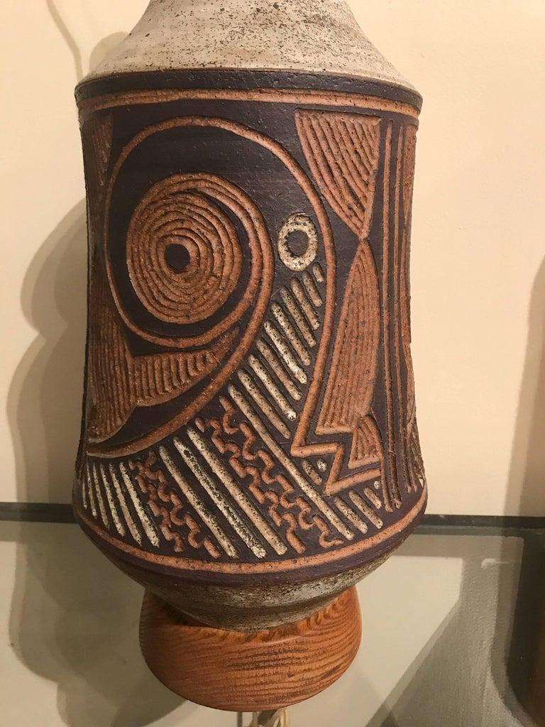 1970s California Ceramic Studio Craft Table Lamp 6