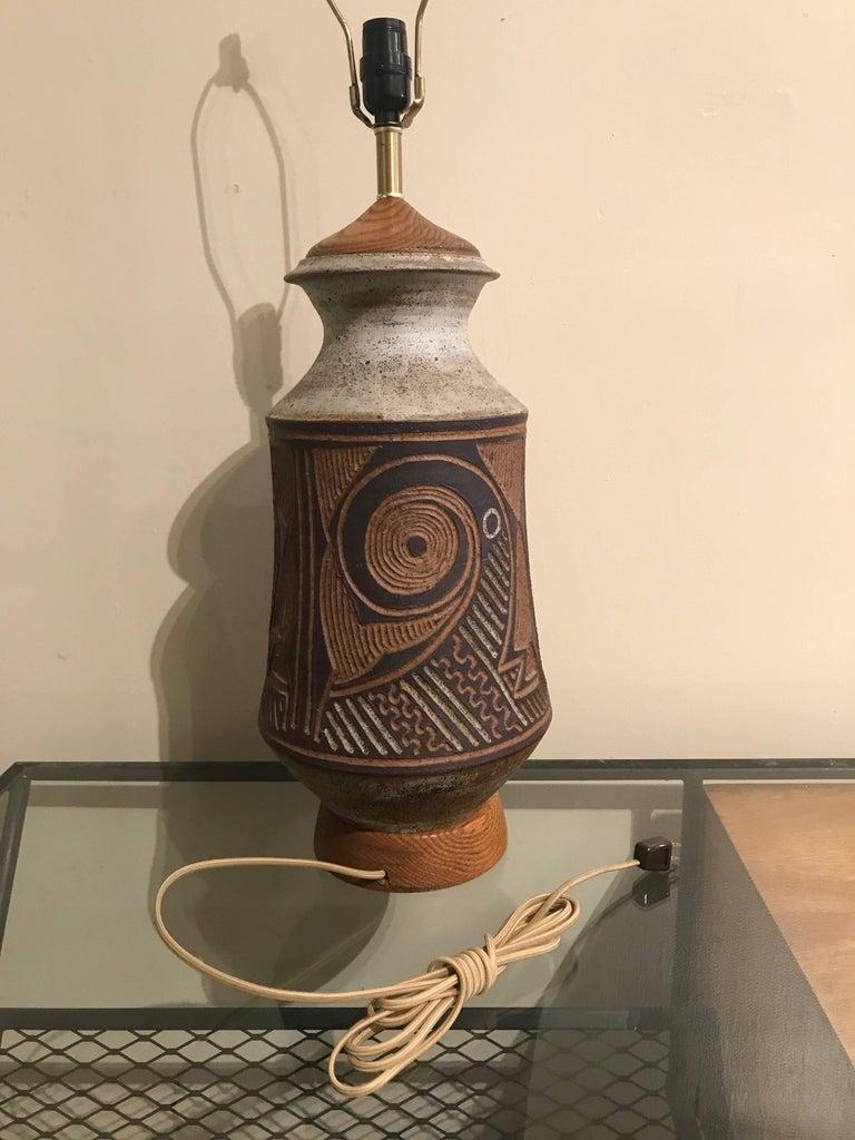 1970s California Ceramic Studio Craft Table Lamp 7
