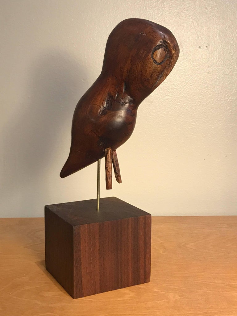 Folk Art Wooden Owl Americana Craft, Late 19th-Early 20th Century 8