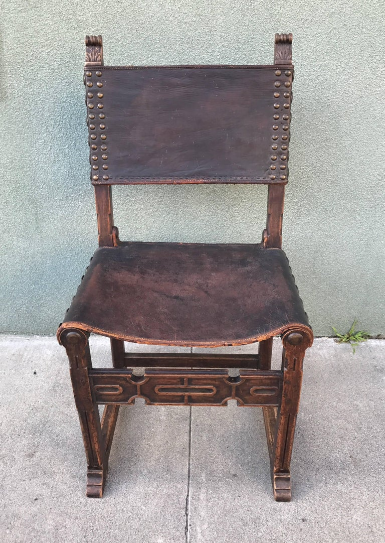 Spanish Revival Side Chair, 1920s 5
