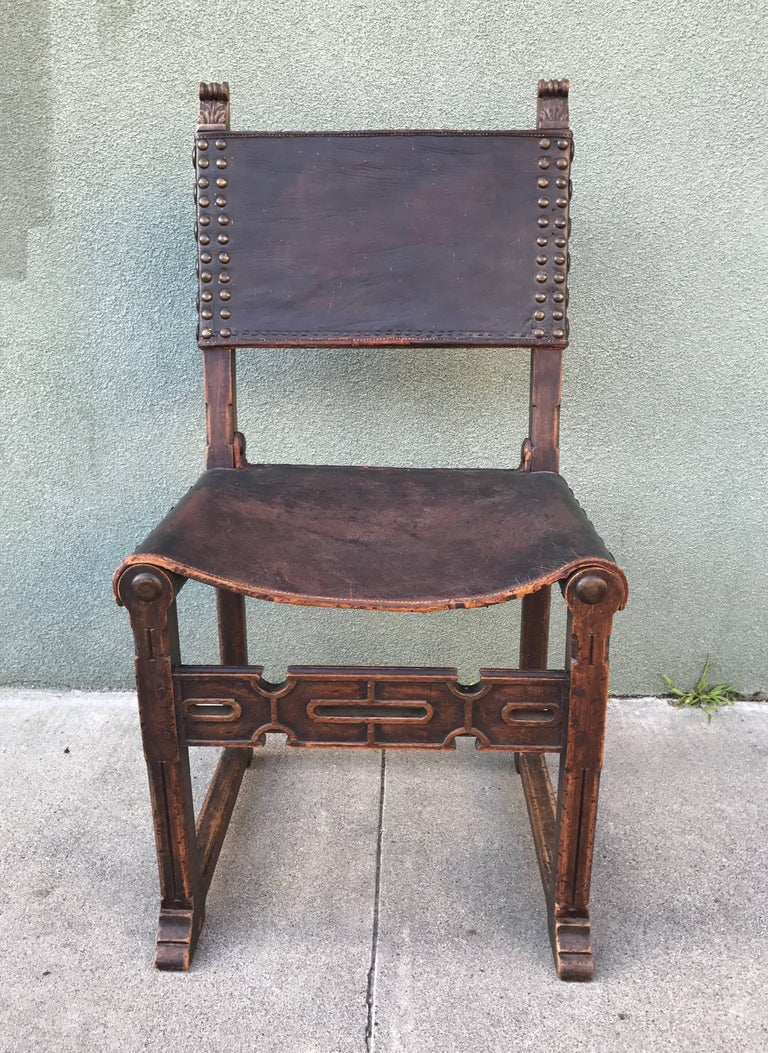 Spanish Revival Side Chair, 1920s 6
