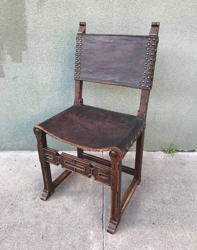 Spanish Revival Side Chair, 1920s 8