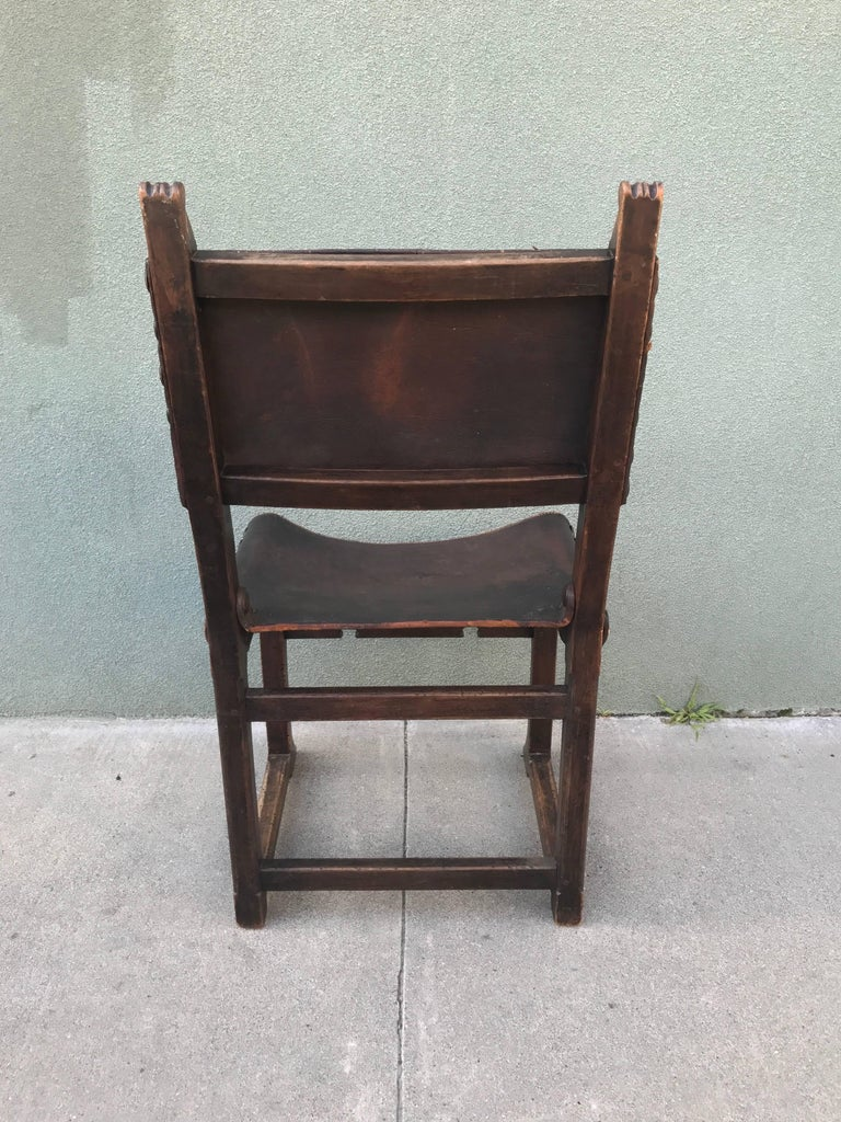 Spanish Revival Side Chair, 1920s 9