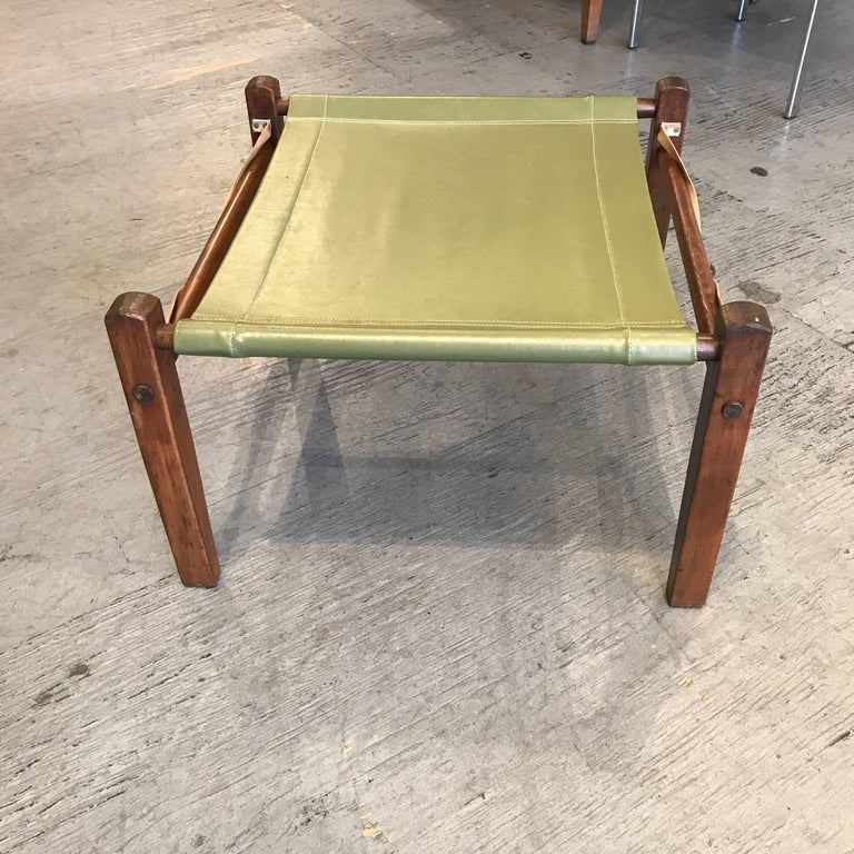 Mid-Century Modern Campaign, Camping Following Ottoman, 1950s For Sale