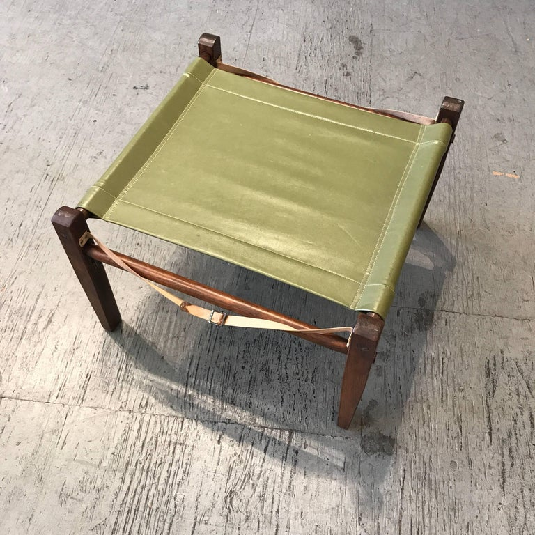 Mid-20th Century Campaign, Camping Following Ottoman, 1950s For Sale
