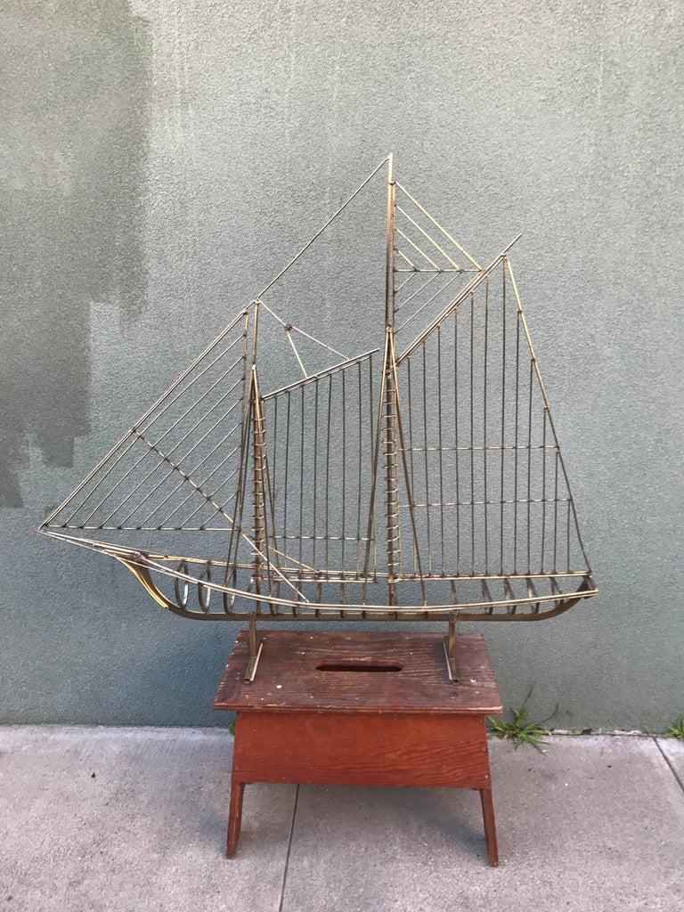 Vintage, 1970s Jere Sailboat Sculpture 6