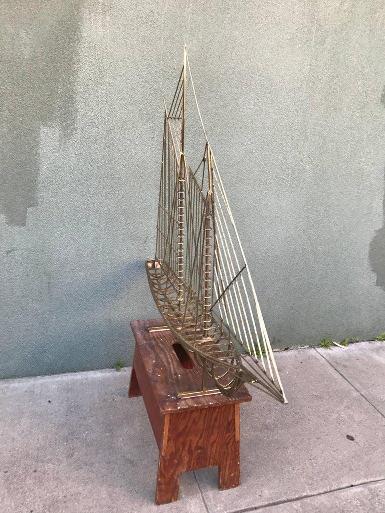 Vintage, 1970s Jere Sailboat Sculpture 8